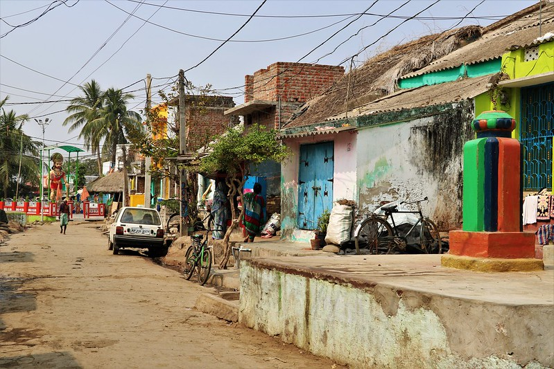 Village in India, Empty Dirt Road