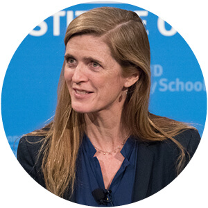 Photo of HKS professor Samantha Power.