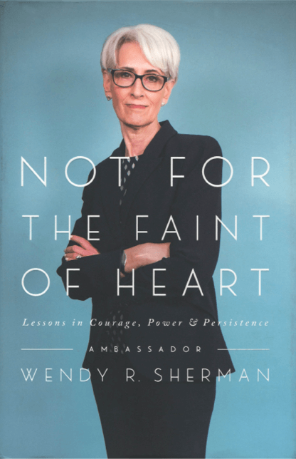 A cover image of the book Not for the Faint of Heart: Lessons in Courage, Power & Persistence.
