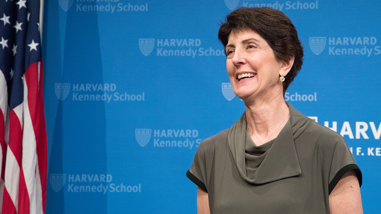 Mary Kurkjian at the presentation of the HKS Fund Outstanding Alumni Award