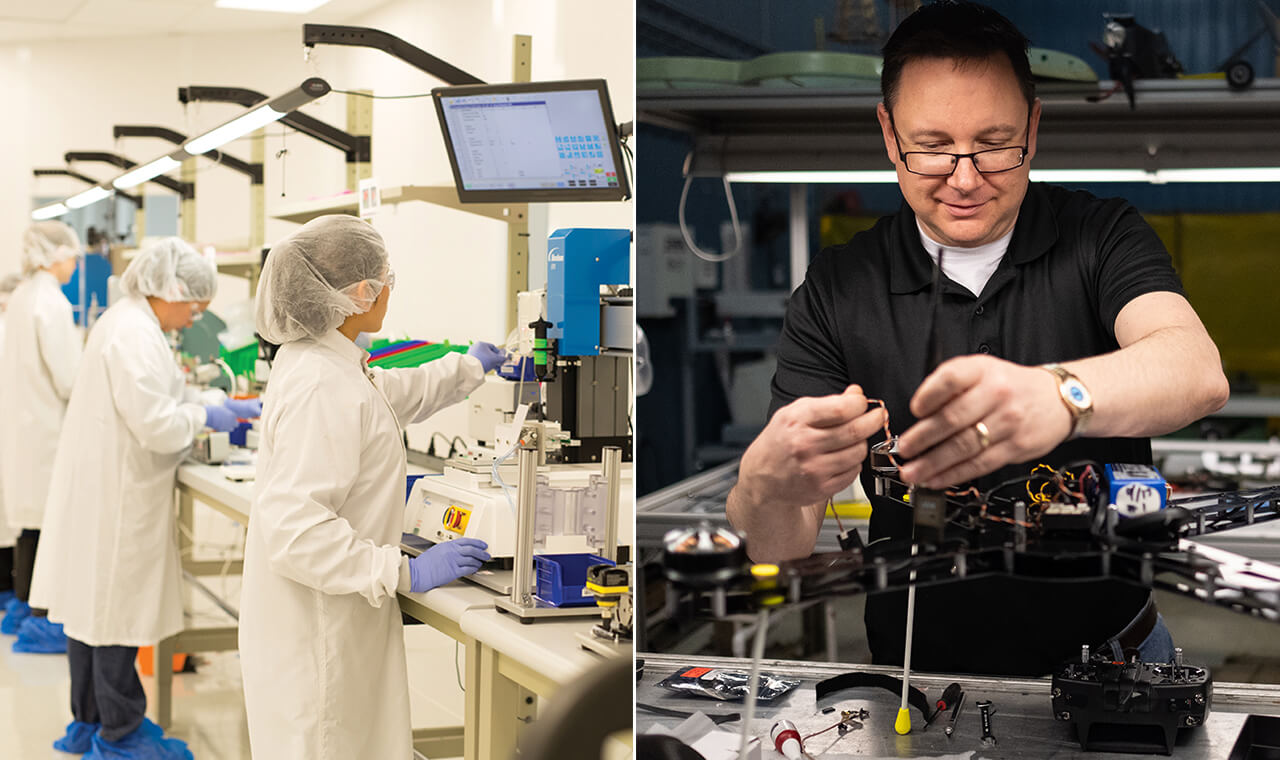 Since it was started in 2011, JobsOhio has helped businesses and employers such as Enable Injections (left) a Cincinnati-based developer and manufacturer of medical devices, and SelectTech (right), based in Dayton.