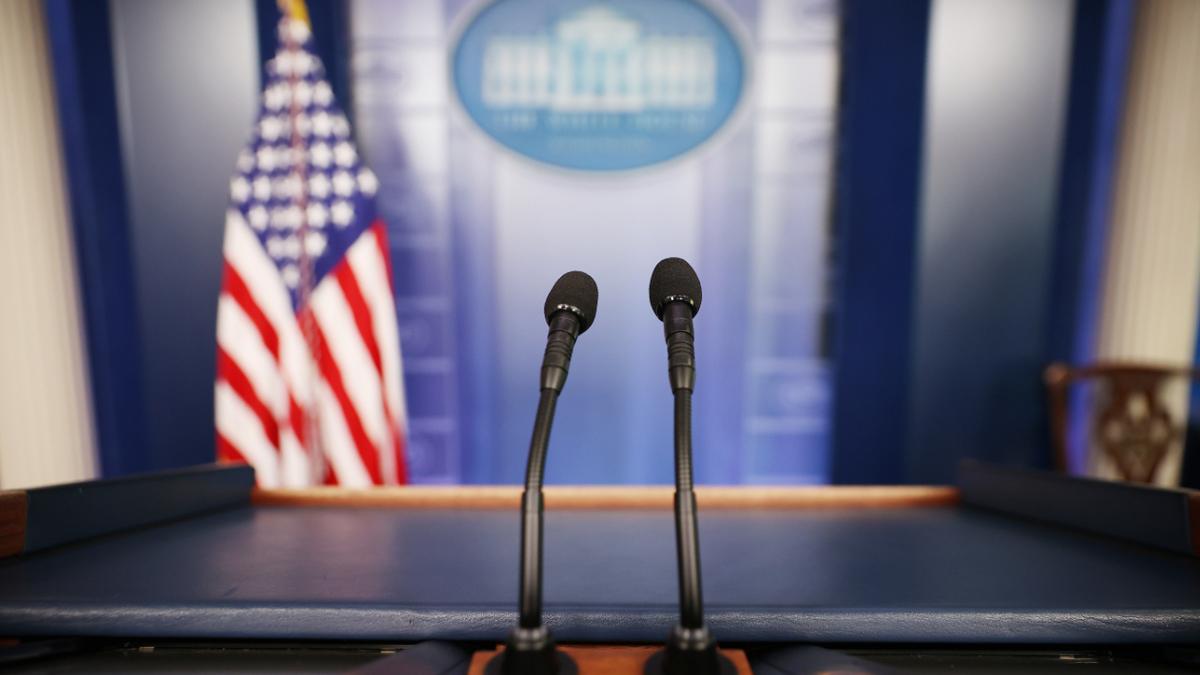 White House press room.