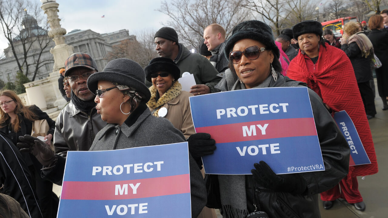 Voting rights demonstration.
